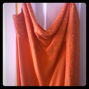 Orange evening gown (Homecoming, pageant, more!)